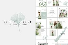 Ginkgo Instagram Puzzle Template by  in Social Media