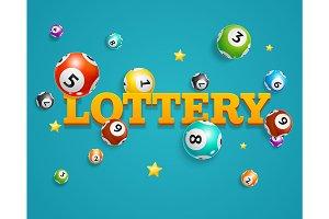 Lotto Bingo Concept Card