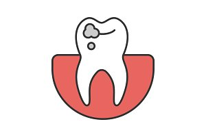 Caries color icon