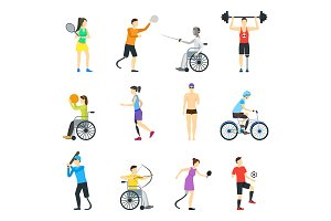 Disabled Sports Characters