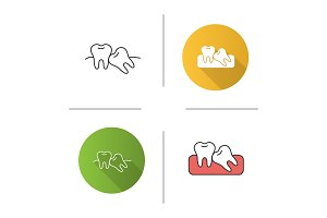Crooked teeth icon