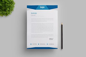 Creative Blue Letterhead Template