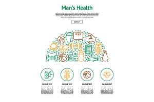 Men Health Thin Line Set.