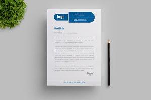 Creative Blue Letterhead Template