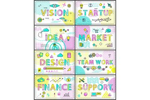 Vision Start Up and Finance Vector