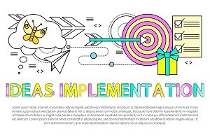 Ideas Implementation Poster Vector