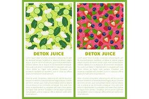 Detox Juice Poster Ingredients of
