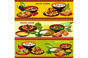 Indian cuisine banners
