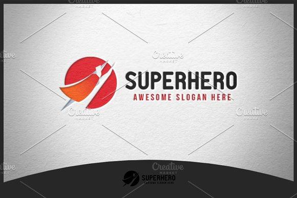 superhero logo logo templates creative market
