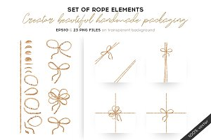 Set of rope elements