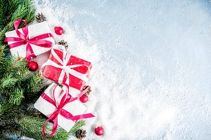 Christmas background with gifts