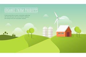 Eco village illustration