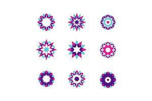 Geometric circles set. Abstract