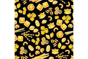 Italian pasta seamless pattern