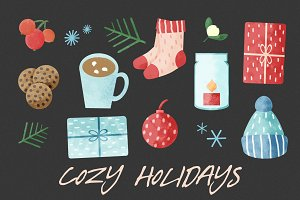 Cozy Holidays Clipart