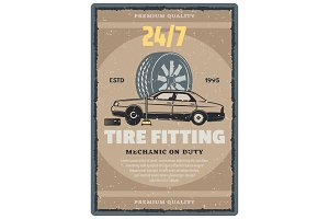 Tire fitting service design