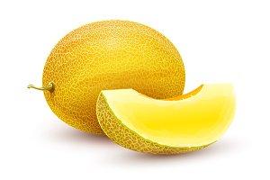 Honeydew melon. Whole fresh ripe