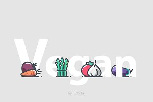 Vegetables 44 icons