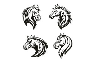 Horse animal tribal tattoo