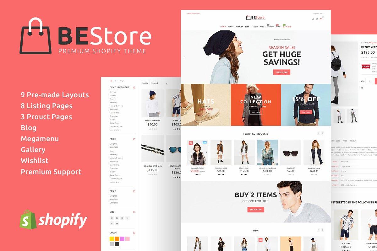 Bestore Fashion Shopify Theme Web Themes Creative Market