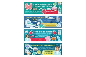 Medical diagnostic banners