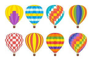 hot air colorful balloon