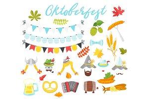 Oktoberfest holiday symbols