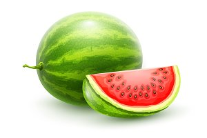 Watermelon. Whole fresh ripe sweet