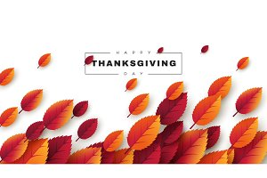 Happy Thanksgiving holiday design