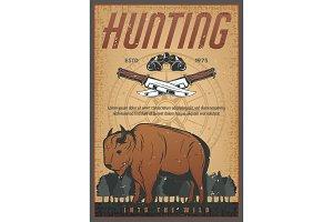 Hunting sport vintage banner