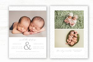 Twin Birth Announcement Template