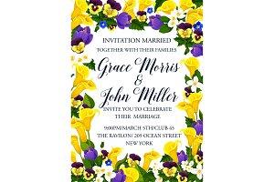 Wedding invitation frame border