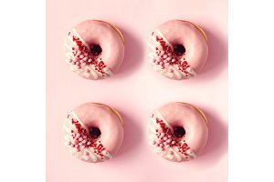Square crop of sweet doughnut with