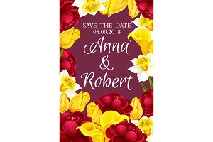 Wedding Save the Date floral card