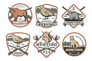 Hunting retro icons