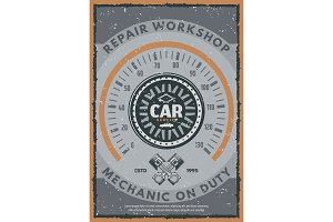 Car service or auto repair workshop