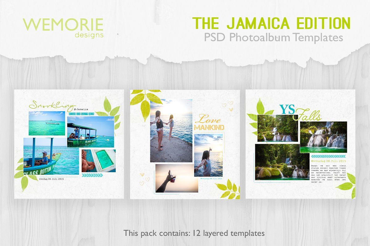 Modern Scrapbook Photobook Template