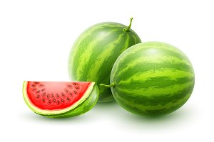 Watermelons. Whole fresh ripe sweet