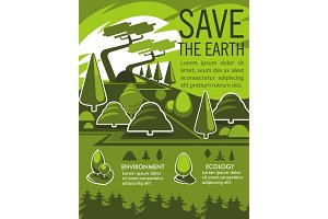 Save the Earth ecology poster