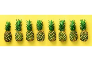 Bright pineapple pattern for minimal