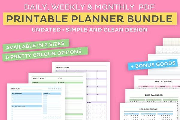 Printable planner bundle