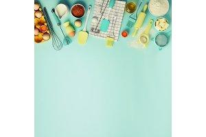 Square crop. Baking ingredients -