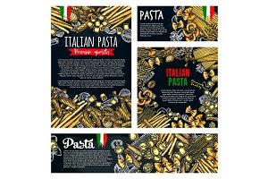 Pasta italian food poster