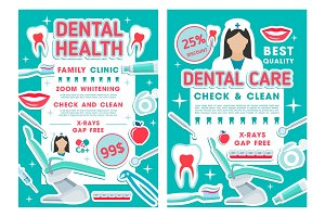 Dental clinic and dentistry poster