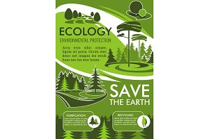 Ecology banner for Save Earth design