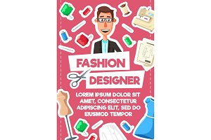 Fashion designer, tailor and sewing