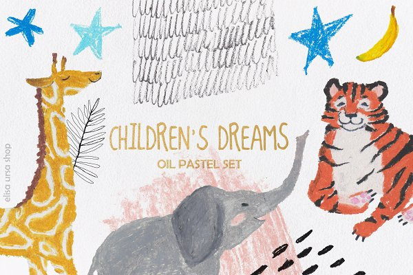 Illustrations and Illustration Products: Elisa Ursa - Oil Pastel Set | Children's Dreams