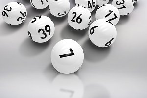 Composite image of lottery balls
