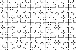 White puzzles pieces seamless patter