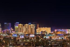 Wide Las Vegas Night Panorama
